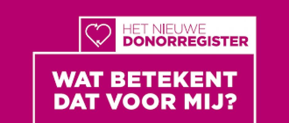 Nieuwe donorwetgeving