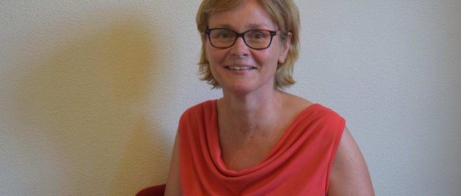 Karin Janssen in actie tijdens de Zomertoer