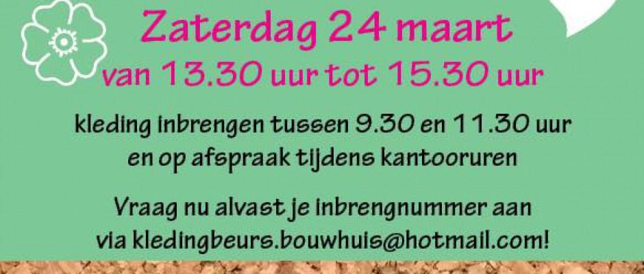 Kinder- en dameskledingbeurs op 't Bouwhuis (24 mrt)